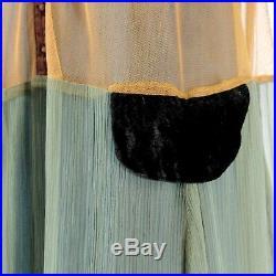 Hopeless Romantic Nataya Vintage Collared Bead Gown Dress Slip Set XL fits L
