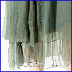 Hopeless Romantic Nataya Vintage Collared Bead Party Gown Dress Slip Set Large