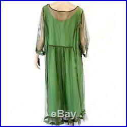 Hopeless Romantic by Nataya Vintage Green Party Gown Dress Slip Set Large