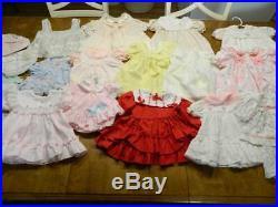 Huge Lot of 54 pc VTG 40's-50's 80's dress's slips bonnets Marthas miniatures Br