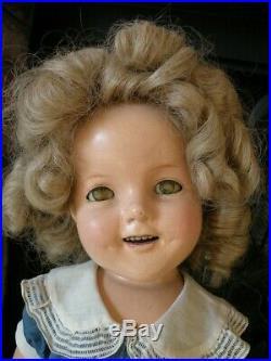 IDEAL Vintage SHIRLEY TEMPLE Doll Dress Slip & Shoes Set Nov & Toy Co Estate