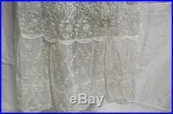 INCREDIBLE Vtg 50s Anne Undies Womens Fully Embroidered Full Slip Nylon 34 Dress