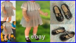 Ideal Penny Doll Dress, Slip, Panty, Black Shoes No Doll Included