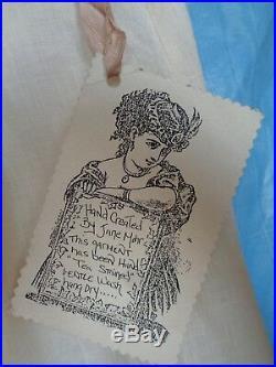 Jane Mohr for DTK Vintage 2 pc Dress & Slip SetlinenNWT! OS 46hip 38-40 bust