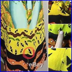 Jean Paul Gaultier Femme Silk Mini Slip Dress Japanese Inspired Woman Squid 90s