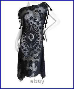 Jean Paul Gaultier Vintage Crochet Dress With Tassel Original Price $2,195