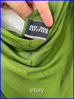 Jean Paul Gaultier Vintage Green Strap Dress cami strappy slip flared emerald