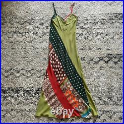 Jean Paul Gaultier Vintage Patchwork Silk Slip Dress size 4
