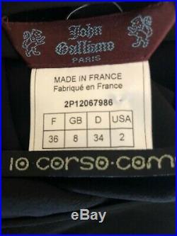 John Galliano for 10 Corso Como 1990's Black Silk Dishabille Backless Slip Dress