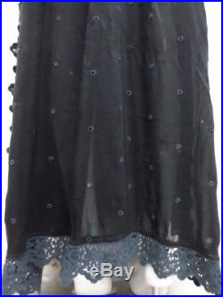 Johnny Was Vintage Prairie Button Front Maxi Dress with Slip M JW51100917