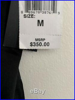 Josie Natori Lolita Glamour Chemise Silk Black Lace Slip Retail $350 Medium