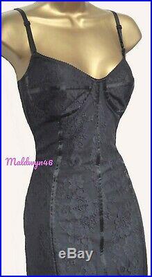 Karen Millen Sexy Vintage Black Lace Mesh Wiggle Slip Corset Dress Uk 12