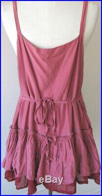 Krista Larson Berry Cotton/Silk Underpinning Cami Slip Vintage Romantic Style