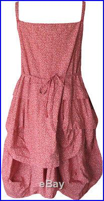 Krista Larson Bliss Tiny Floral Print Cotton Umbrella Slip Romantic Vintage