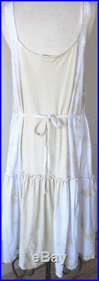 Krista Larson Daffodil & White Tie-Dye Cotton Cottage Slip Vintage Style