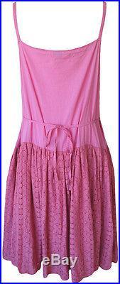 Krista Larson Raspberry Cotton & Lace Appledore Slip Romantic Vintage Style