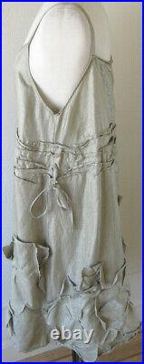 Krista Larson Sage Silk Flower Applique Slip Romantic Vintage Style