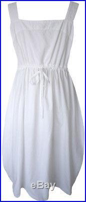 Krista Larson White Cotton Long Bakery Slip Romantic Vintage Style