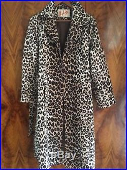 Lace Broderie Anglais Vintage 50s 60s Dress Slip Trench Coat Leopard Rain