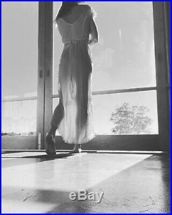 Lace Vintage 40s Dress 100% Silk 10 Slip Wedding Dust Pink Long Tie Backless M L