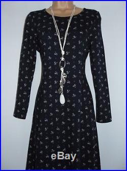 Laura Ashley Vintage Cotton Jersey Slip On Style Full Length Flattering Dress, M