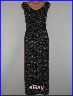 Laura Ashley Vintage Spring/ Summer 97 Long Slip On, Georgette Dress, Size 14 UK