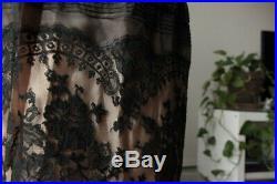 Lot of 7 Vintage 1940's-1980's Womens Dresses, skirt, slips + thin leather belt