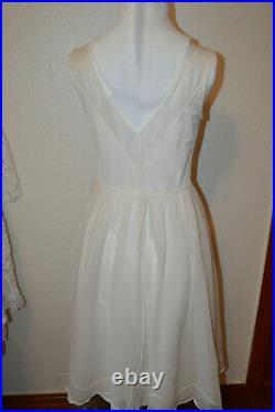 Lot of Five Vintage Slip Dresses Lingerie Full Slip Pastels 60's Soft Sz 30-36