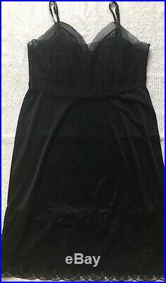 MINT Vintage Van Raalte 42 Bust Opaquelon Wide Lace Sheer Full Dress Slip