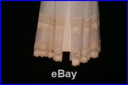 MISS ELAINE Chiffon Lace Peignoir Robe Vtg OLGA Dress Sweep Slip Gown Nightgown