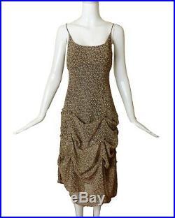MOSCHINO-1995 Button Draped Slip Maxi Dress, Size-4