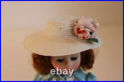 Madame Alexander Cissette Doll Wearing Tagged Apron Front Dress Slip Panties Hat
