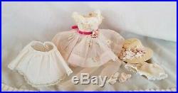 Madame Alexander Cissette Dress Set Dress Hat Nylon Shoes Slip Undies Earring