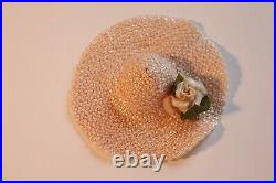 Madame Alexander Tagged Elise Doll Salmon Lace Apron Front Dress Slip Hat 1957