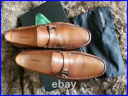 Magnanni Men's Dallas Size 12 Tan Leather Slip-on Loafers