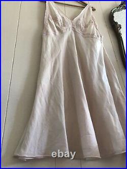 Magnolia Pearl Lille Ballett Slip Dress Nude Cotton Silk Vintage Lace damage