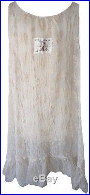 Magnolia Pearl Peony Cream Embroidered Lace Rosebud Dress Slip Romantic Vintage