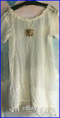 Magnolia Pearl Vintage Slip Dress in Silk Cotton in Ivory OS
