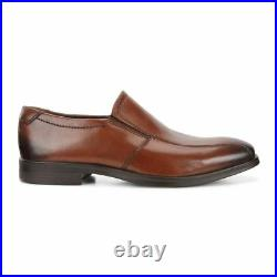Men's ECCO Melbourne Bike Slip On Leather Shoes Amber 621654 01112 Medium