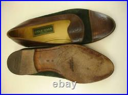 Mens 9 D M Cole Haan Hand Made in Italy Black Brown Brogue Shoes Loafers Slip-On
