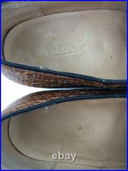 Mens Exotic Sharkskin Unique Vintage Davids Slip On Loafers Shoes Sz 10.5 B