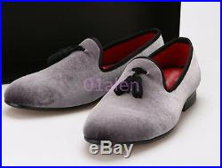 Mens Pointy Toe Tassel Slip On Loafers Dress Vintage Retro Spring Shoes Prom NEW