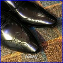 Mens Vintage Wing Tip Formal Dress Brogue Shoes Slip On Low Top Groom Shoes Pump
