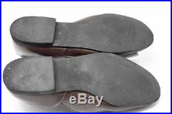 Mid-Century Vintage Jarman Brown Leather Loafers Slip-On Dress Shoes Mens Size 9