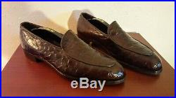 Mint Vintage Footjoy 11b Exotic Split Toe Genuine Alligator Slip On Dress Shoes