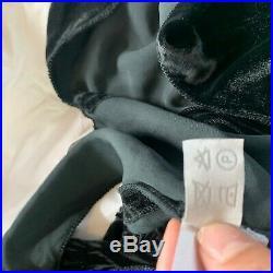Miu Miu Velvet Slip Dress Vintage Black Size 42 Small