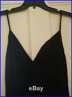 Monique lhuillier black silk slip dress Vintage size 10 approx size 2-4