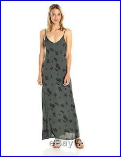 Monrow Women's Tropical Bias Slip Dress, Vintage Black, XS