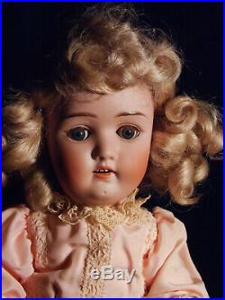 Mystery 18 Bisque Socket Head Doll Marked GERMANY 2 Lovely Dress & Slip
