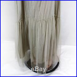 NEW NWT Nataya Plus Size Vintage Edwardian Gown Antique Beige Dress Slip Set 1X